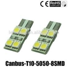 T10 W5W 194 8 SMD 5050 Canbus Error Free No Error LED Parking Light Bulb
