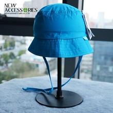 wholesale custom kids solid cute blue bucket hat