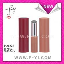 Cosmetic plastic round lip stick container