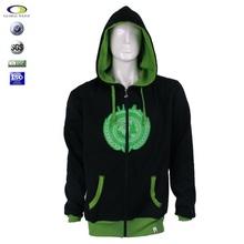 China Customized winter zipper 100% cotton fleece high quality zip hoodie