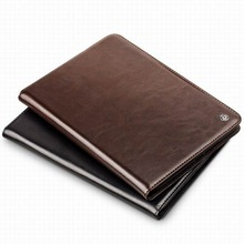 QIALINO New Luxury Slim Stand Smart Case Real Leather Back Cover For Apple iPad air 2 iPad 6