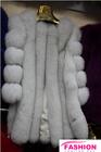 Fashion colorful blue fox fur vest / woman jacket in 2014 / winter coats
