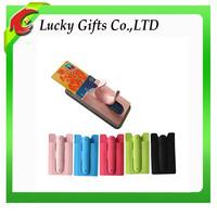 Custom silicone mobile phone card holder phone case card holder