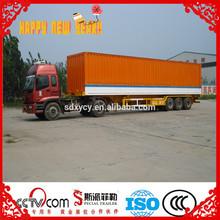 3 axle 40ton dry van semi trailer,cargo box trailer