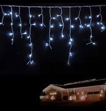 24m EMC LVD RoHS christmas warm white led icicle lights 480 leds outdoor 12m roof LED icicle light
