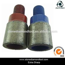 Aggressive Diamond Bond T-03 M12 Thread Finger Bit Tips for Granite / Marble