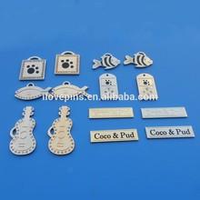 custom fish/guitar/band/bag shape crystal rhinestone charm pendant dog id tag