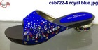csb722-4 royal blue 2015 New arrival fashion lady sandals with stone for wedding/party