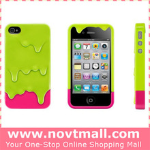 2015 mix colors plastic phone casing for iphone 4 4s pc case, ice cream 3d hard back cover for iphone