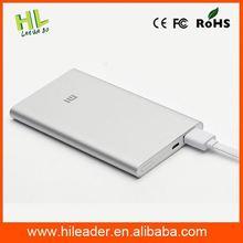 2015 Ultra-thin metal 5000mah usb external battery/power bank