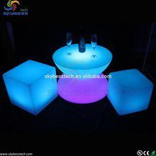 led party rental furniture,mini bar table,table bar stools