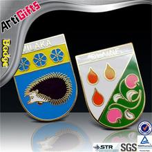 3D design metal smooth polished plated badge tie bar