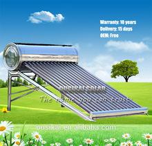 OUSIKAI Non-Pressure Stainless Steel Solar Water Heater / Calentadores Solares / Calentador de agua solar (8-50 tubos)
