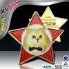 Custom cheap metal delicate metal key badge with epoxy logo