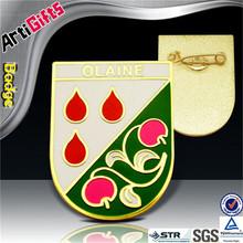 New fashion metal badge bronze