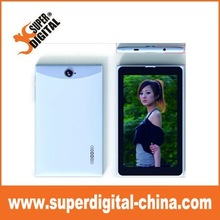low cost 3g 7 inch 1024*600 (16:9) Phone calling with free leather case tablet PC