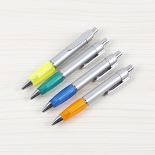 Jumbo plastic pen silver planting with hard rubber grip big pen refill