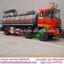 6x2 Dongfeng aluminum tanker truck chemical liquid transport truck