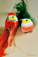 Easter colorful bird wedding decoration fridge magnet,artificial birds for crafts