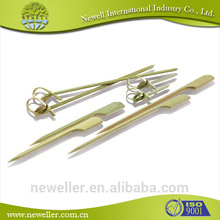 2014 Nature pearl bamboo picks with pearl knot bamboo skewer/ knot skewer