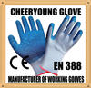 CY 10 guage 5 yarn poly cotton high density puncture proof grip well heavy labor glove best construction safety gloves