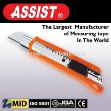 18mm ABS Plastic twist lock safety paper pocket utility knife