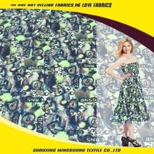 China manufacturer free sample polyester digital jacquard fashion dress fabric