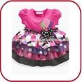 Pggd- 0753 bebé tutu flor de gasa vestido de bebé smocked