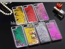For iphone 6 plastic quicksand phone case,creative liquid plastic mobile phone cover for iphone 6 Plus