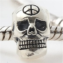 European jewelry 925 sterling silver skull beads charms