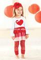 meninas 2015 boutique de roupas atacado detalhes coração wholese infantil roupa valentim