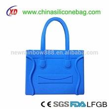 creative silicone blue color tote sunny silicone bag Silicone bag