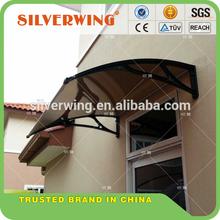 Popular Elegant DIY polycarbonate aluminum rain shelter