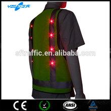 Reflective Safety Vest Bright Flash LED