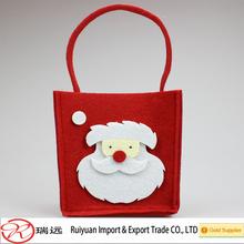 2014 Newest style Lovely Santa Claus design Christmas felt bag