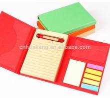 three folder memo pad with sticky note&ruler&ballpen