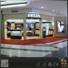 customized corner watches shop counter design