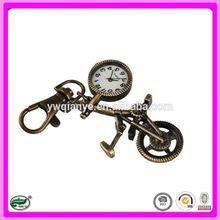 2015 Fashion jewelry new design custom bronze clock keychain