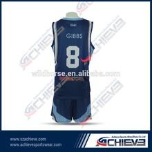 Custom design basketball jersey frame sport wear school uniform