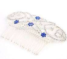 Fashion crystal rhinestone hair clamps diamond tiaras for bridal