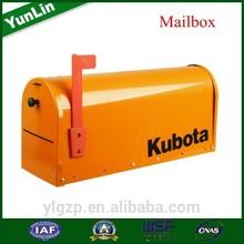 AmericanType , Galvanized Steel letter box with garden swing seat