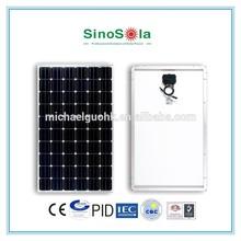 high efficiency big power polymer solar cell 250w mono solar panel module for solar system with TUV/PID/CEC/CQC/IEC/CE