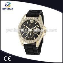 Wholesale Price Diamond Geneva Watch Silicone