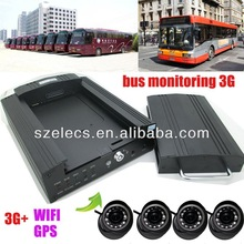 4-ch mobile school bus dvr real time monitoring 3G wireless network