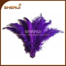 Beautiful Purple Ostrich Feather for wedding centrepieces decorative wholesale