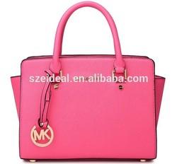 Fashion PU leather handbags mk handbag with trendy design for girl