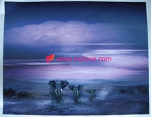 high quality wild animal natural scenery oil painting