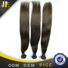 Factory price JP hair weave brazilian dark brown straight hair