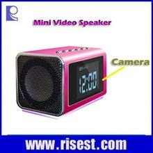 RE-MVS01 Digital Alarm Clock with Night Vision Mode Voice & Video Recorder Mini DVR Camera