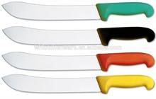 "8"" 10"" 12"" Colorful Plastic Handle professional butcher knife set"